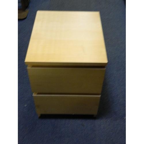 419 - Ash bedside cabinet...