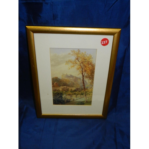 422 - Framed print of 1885 work by James Burell Smith,