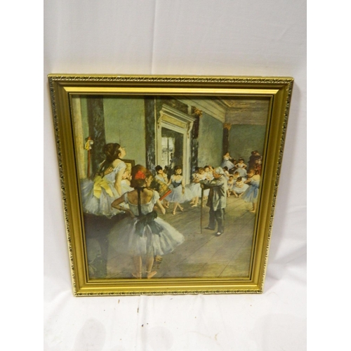 424 - Framed Degas print titled 'The Ballet Lesson'...