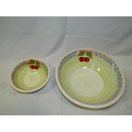 432 - 2 different sized bowls with cherry design...