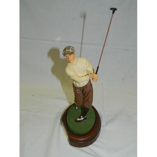 433 - Figurine of golfer 'Bobby Jones'...