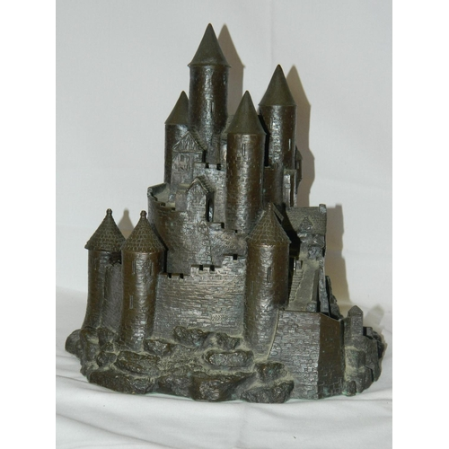 44 - Bronze German Schloss Bavarian castle(superb quality)...