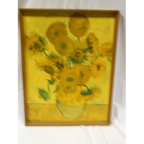 452 - Framed Van Gogh print titled 'Sunflower'...
