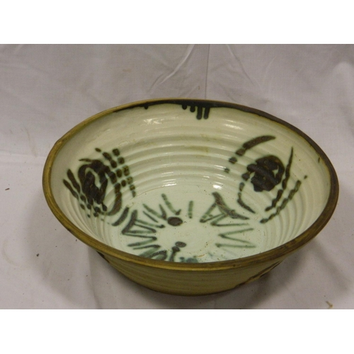 454 - Hand painted studio pottery bowl...