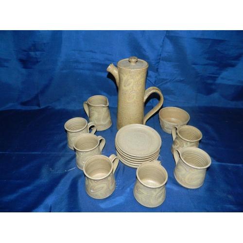 456 - Stone coffee set...