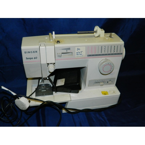465 - Singer Tempo 60 electric sewing machine...