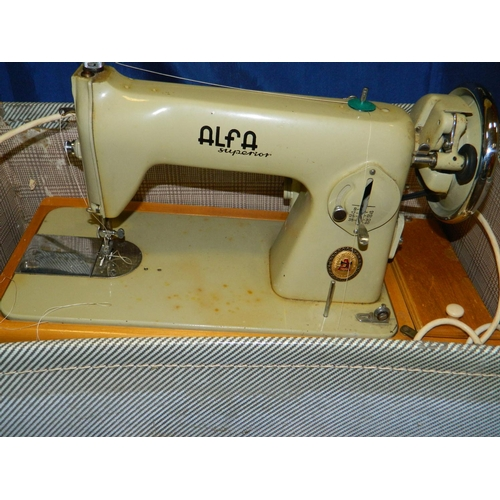 467 - Alta superior electric sewing machine in suitcase...