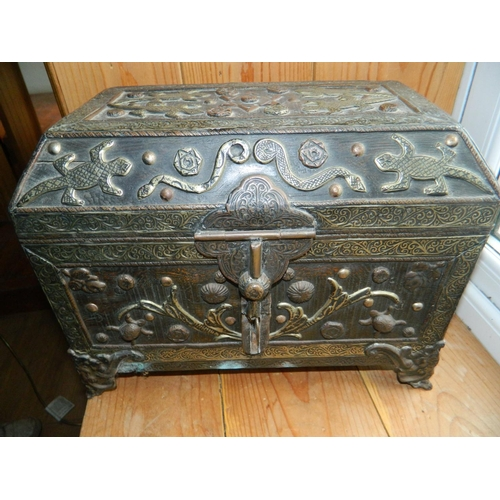 47 - Moroccan ornate chest...