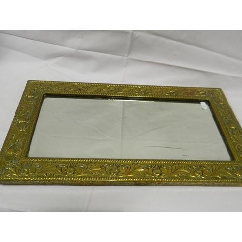 474 - Vintage brass mirror...