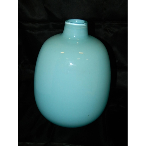 483 - Blue art glass vase...