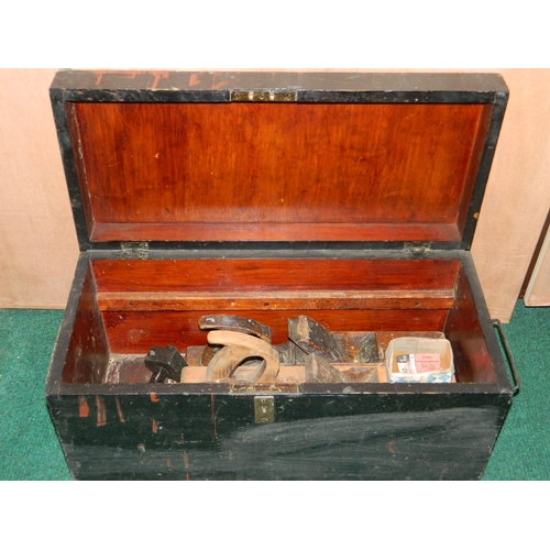 486 - Wooden box containing tools...