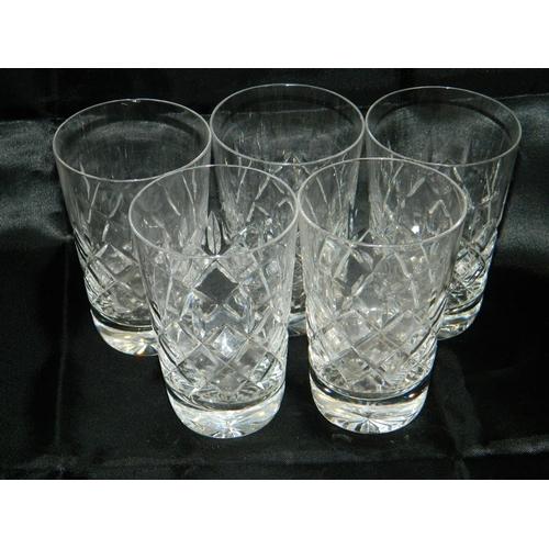 493 - 5 cut glass tumblers...