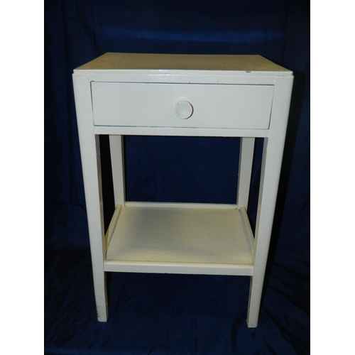 495 - White painted bedside cabinet with drawer...