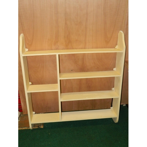 497 - Painted wall shelf unit...