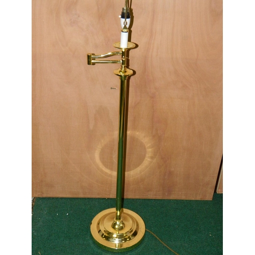 504 - Brass reading floor lamp...