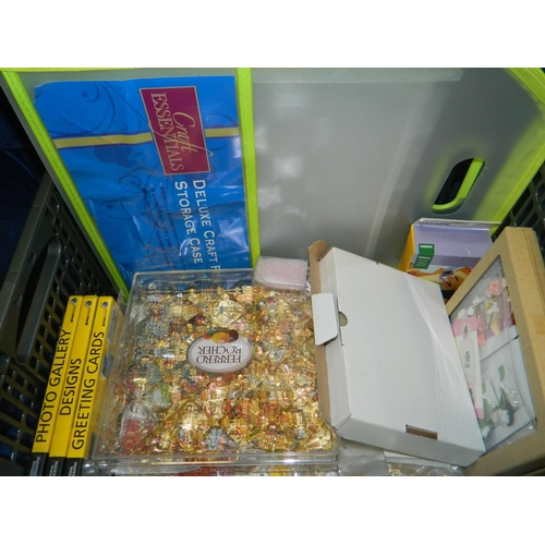 514 - Box of craft and cardmaking materials and accessories...