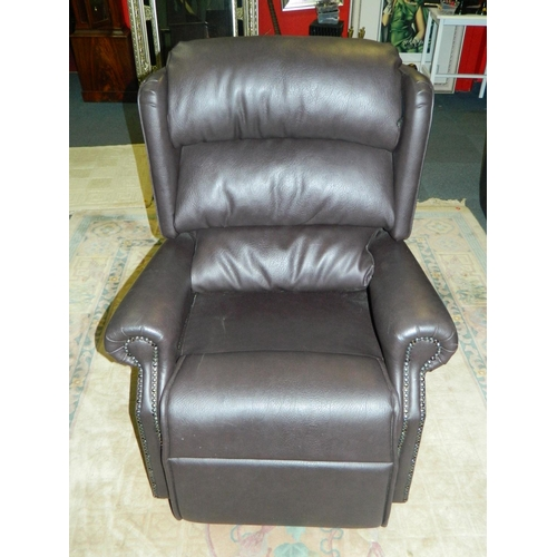 515 - Electric reclining armchair [leather style] good condition...