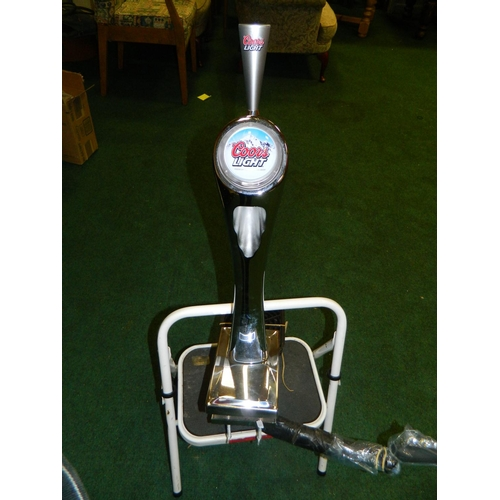 518 - Coors light beer pump...