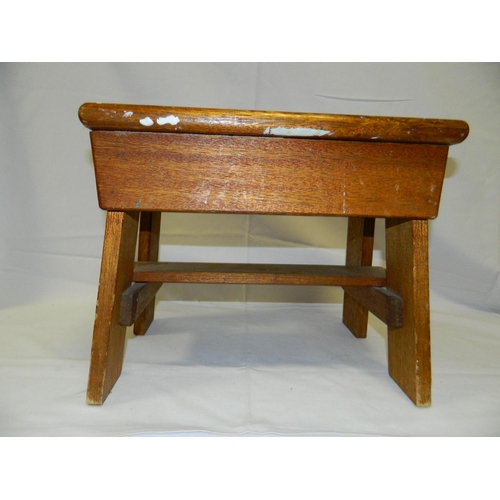 519 - Small wooden footstool...