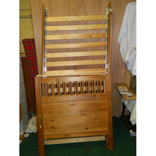 520 - Single pine bed...