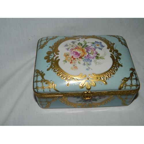 54 - Limoges ceramic lidded box...