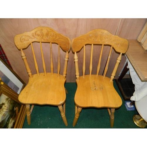561 - 2 Pine chairs...