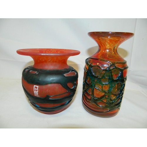 573 - 2 Pieces Mdina glass...