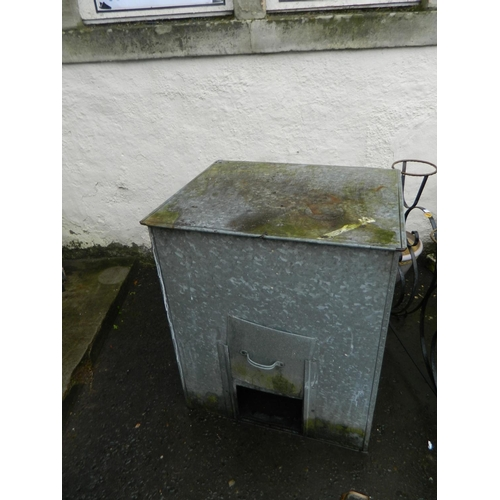 595 - Galvanised coal bunker...