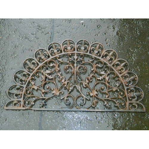 597 - Wrought iron door foot wipe/mat...