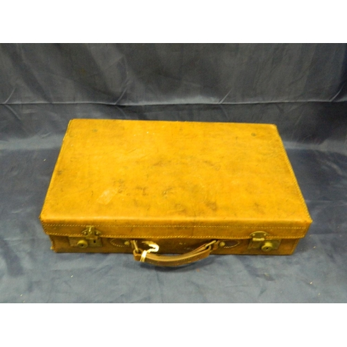 6 - Vintage leather suitcase [very good quality]...