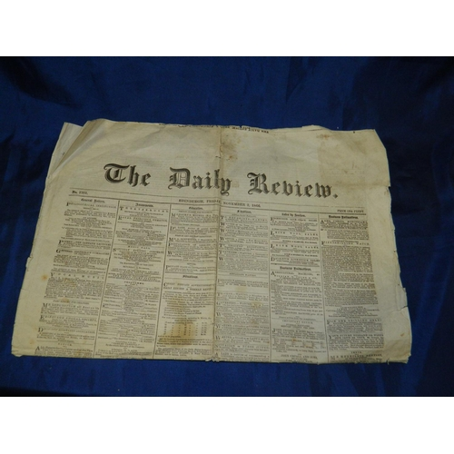 61 - Edinburgh Daily Review 1866 newspaper...