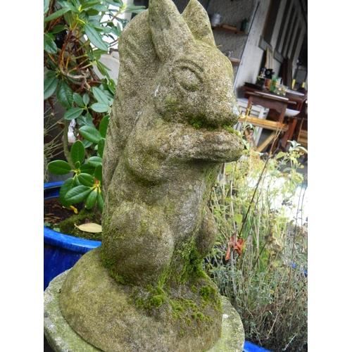623 - Stone garden squirrel [H:38]cm...