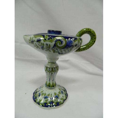 634 - Porcelain candlestick...