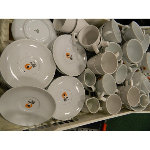 655 - Large quantity of 'Matthew Algie' quality coffee cups and saucers...