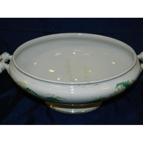 66 - Victorian ceramic large soup tureen...