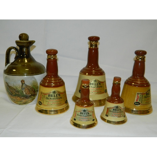 84 - Selection of Bells collectable decanters...
