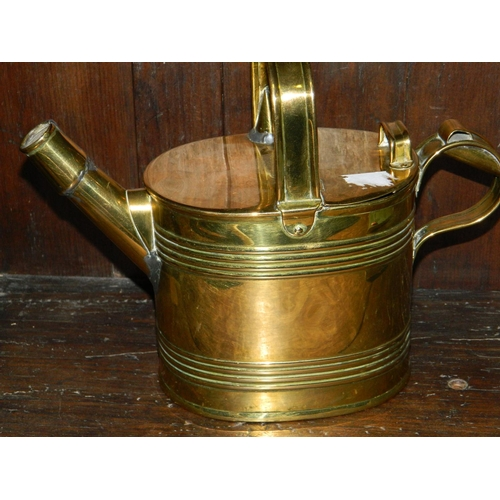 87 - Small brass watering can...