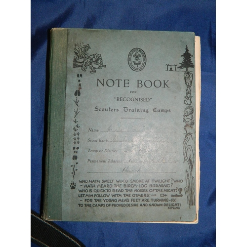 88 - Scouts training diary with self illustrations 1947...