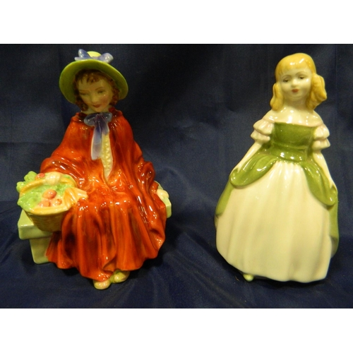 95 - 2 Royal Doulton figures,