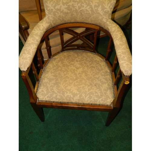 259 - Edwardian Tub chair...