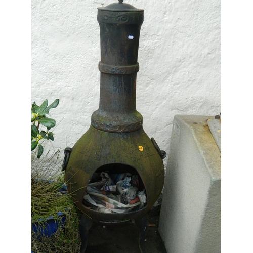 618 - Wrought iron chimnea...