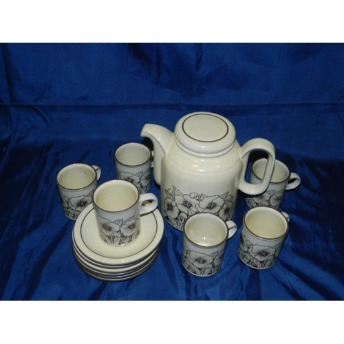 665 - 6 piece hornsea coffee set...
