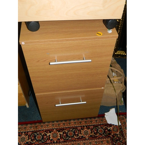 668 - Bedside cabinet...