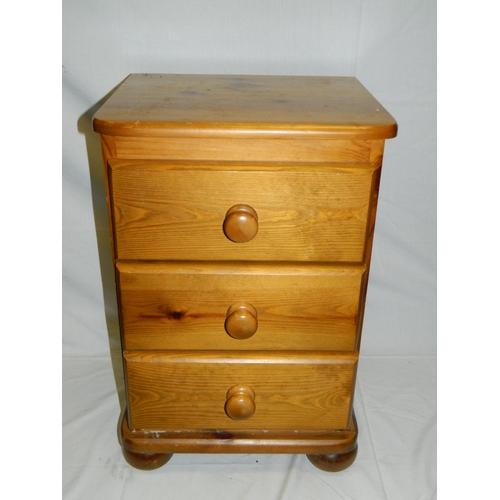 670 - Pine bedside cabinet...