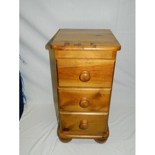 672 - Pine bedside cabinet...