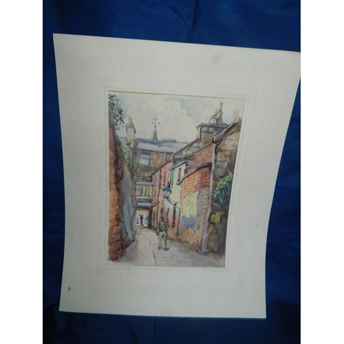 676 - 2 Original watercolours by Edinburgh artist [Fife] and Original watercolour by Edinburgh artist  [Ed...