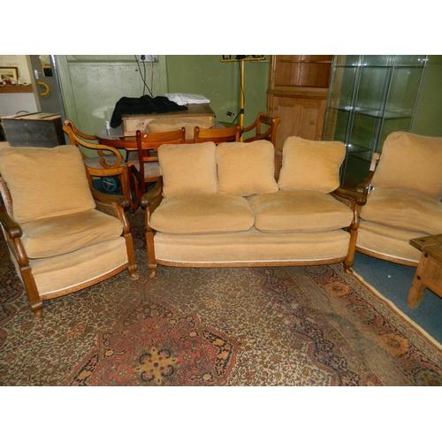 687 - 3 piece Bergere suite...