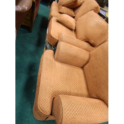 690 - M & S 2 seater sofa bed and chair...