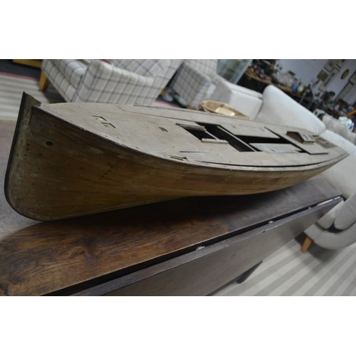 36 - C.wooden Model boat superbly made approx 180cm long...