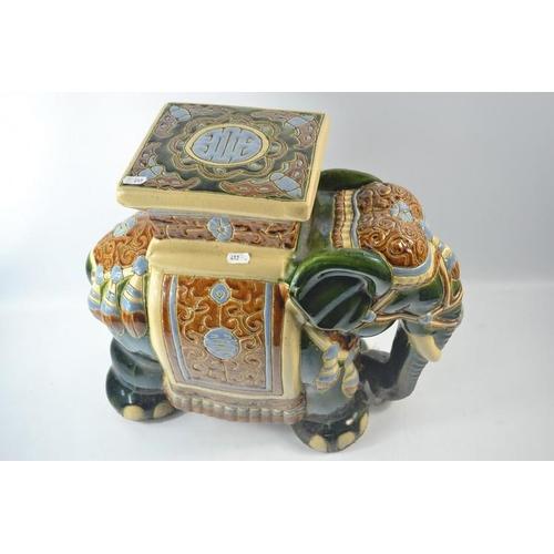40 - Top quality Elephant ceramic patio stool...